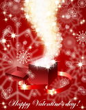 Fundo dos valentin vermelhos Fotos de Stock