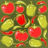 Fundo dos vegetais ilustração do vetor