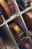 Fundo dos violinos Fotografia de Stock Royalty Free