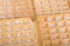 Fundo dos waffles Fotografia de Stock
