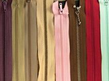 Fundo dos zippers. Imagem de Stock Royalty Free