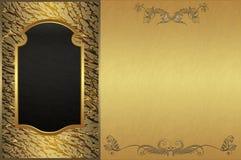 Fundo dourado. Fotografia de Stock Royalty Free