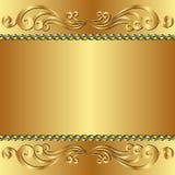 Fundo dourado Imagens de Stock