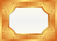 Fundo dourado ilustração do vetor