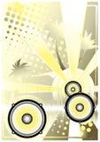 Fundo dourado 4 do poster do DJ Imagens de Stock Royalty Free