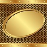 Fundo dourado ilustração stock