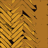 Fundo dourado abstrato Fotos de Stock Royalty Free