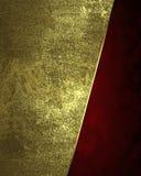 Fundo dourado abstrato com borda vermelha Elemento para o projeto Molde para o projeto copie o espaço para o folheto do anúncio o Imagem de Stock Royalty Free