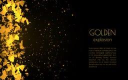 Fundo dourado abstrato com explosão Foto de Stock Royalty Free