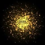 Fundo dourado abstrato com explosão Imagens de Stock Royalty Free