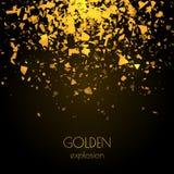 Fundo dourado abstrato com explosão Fotografia de Stock Royalty Free