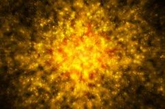 Fundo dourado abstrato da luz da estrela Imagens de Stock