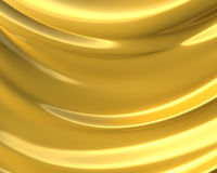 Fundo dourado abstrato de pano 3d Fotos de Stock Royalty Free