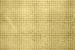 Fundo do ouro - projeto do grunge - teste padrão verificado Fotografia de Stock Royalty Free