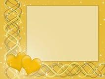 Fundo dourado amarelo para sua rotulação Fotografia de Stock