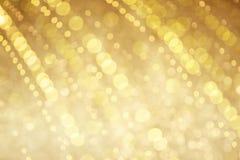 Fundo dourado bonito do bokeh Foto de Stock