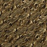 Fundo dourado com teste padrão floral Imagens de Stock Royalty Free