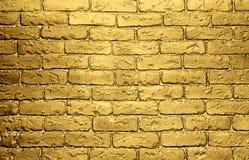 Fundo dourado da parede de tijolo Imagem de Stock