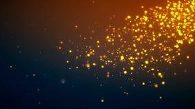 Fundo dourado da partícula Imagens de Stock