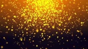 Fundo dourado da partícula Imagem de Stock