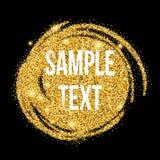 Fundo dourado da pincelada dos sparkles Vetor Foto de Stock Royalty Free