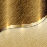 Fundo dourado da textura do vetor com linha da curva Fotografia de Stock