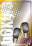 Fundo dourado de encaixotamento 2 do poster Imagem de Stock