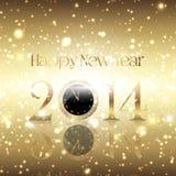 Fundo dourado do ano novo feliz Fotos de Stock Royalty Free