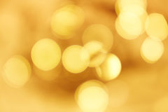 Fundo dourado do bokeh Fotografia de Stock