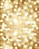 Fundo dourado do bokeh Foto de Stock Royalty Free