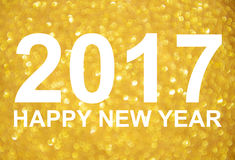 Fundo dourado do brilho do ano novo 2017 Foto de Stock Royalty Free