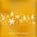Fundo dourado do Natal ilustração do vetor