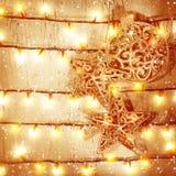 Fundo dourado do Natal Fotografia de Stock