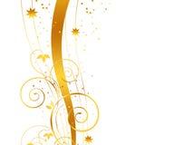 Fundo dourado do Natal Fotografia de Stock Royalty Free
