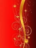 Fundo dourado do Natal Fotos de Stock Royalty Free