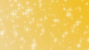 Fundo dourado do Natal com hd de queda do xmas do feriado do ouro das estrelas ilustração do vetor