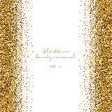 Fundo dourado do sumário do brilho Contexto brilhante do ouropel Molde luxuoso do ouro Vetor ilustração royalty free