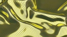 fundo dourado do sumário da ilustração 3D ilustração stock