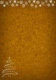 Fundo dourado do teste padrão do Natal Imagem de Stock
