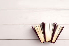 Fundo dourado dos livros Foto de Stock