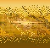 Fundo dourado dos pixéis Imagem de Stock Royalty Free