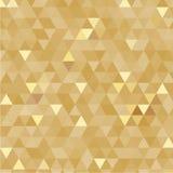 Fundo dourado dos triângulos Fotos de Stock Royalty Free