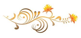Fundo dourado fantástico da flor Imagem de Stock