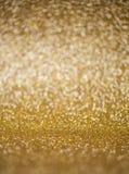 Fundo dourado festivo do ano novo Foto de Stock