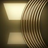 Fundo dourado lustrado Imagens de Stock Royalty Free