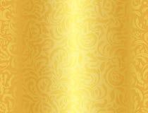 Fundo Dourado Luxuoso Com Alinhador Longitudinal Floral Do