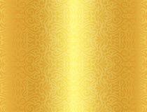 Fundo dourado luxuoso com teste padrão do vintage Imagem de Stock Royalty Free