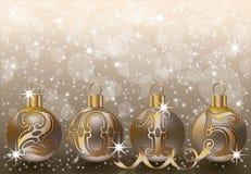 Fundo dourado novo de 2015 anos Imagens de Stock