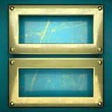Fundo dourado pintado no azul Foto de Stock