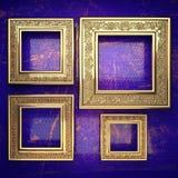 Fundo dourado pintado no azul Imagem de Stock